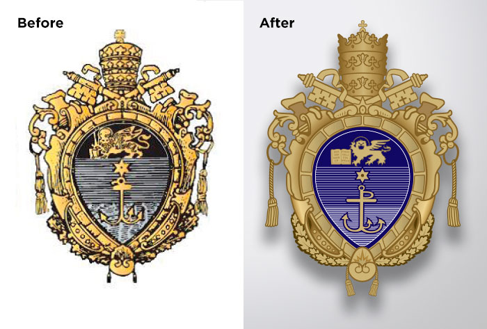 st-pius-x-school-crest-before-after
