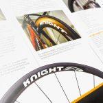 knight wheels product brochure design