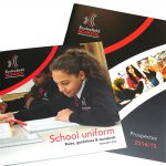 school uniform brochure design
